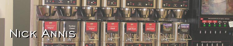 Photo: The coffee dispensing array at Nick's favorite convenience store - the WaWa